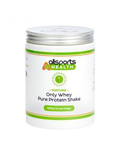 ALLSPORTS:HEALTH Mature Only Whey Protein Shake 450g