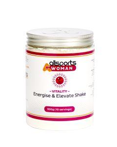 ALLSPORTS:WOMAN Vitality Energise & Elevate Shake 500g