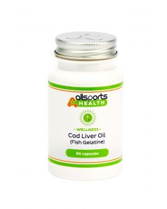 ALLSPORTS:HEALTH Wellness Cod Liver Oil with Fish Gelatine 90 Capsules